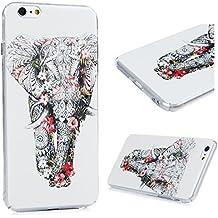 iPhone 6 Plus/6S Plus Funda - Lanveni Carcasa Rigida PC ultra Slim para iPhone 6 Plus/6S Plus 5.5 pulgadas Transparente Protective Case - Patrón Elefante Diseño