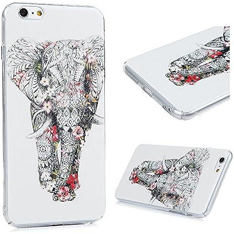 iPhone 6 Plus/6S Plus Funda - Lanveni Carcasa Rigida PC ultra Slim para iPhone 6 Plus/6S Plus 5.5 pulgadas Transparente Protective Case - Patrón Elefante