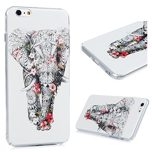 Coque iPhone 6 plus/iPhone 6S plus , Lanveni Housse Etui de Protection en PC pour iPhone 6 plus/iPhone 6S plus Elephant