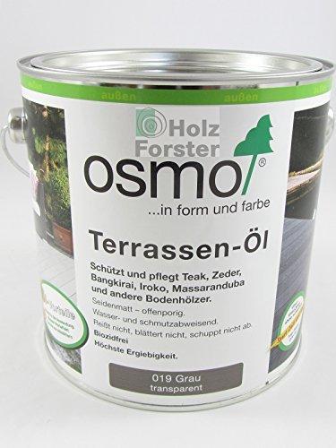 Preisvergleich Produktbild OSMO Terrassen-Öl Grau (019) 2,5 Liter