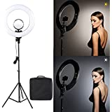 Tolifo R48B LED Ring Light LED Lamp Bi-Color Photography Video Studio Light for Smart Phone Camera Youtube Live and Photography