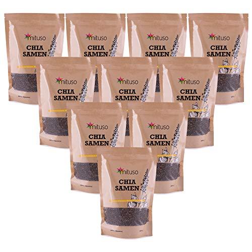mituso Premium Chia Samen, 10er Pack (10 x 1000g)