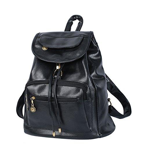 CrazySell Womens Ladies PU Zaino Moda Schoolbag