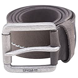 Spykar Mens Leather Olive Belts
