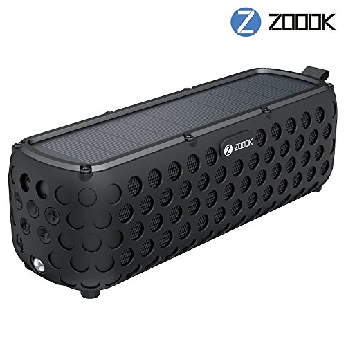 Zoook ZB Solar Muse Water Resistant Bluetooth Speaker (Black)