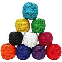 Lote de 50 piezas de algodón de la cruz de la seda de la India de la puntada de costura Madejas bordado Thread