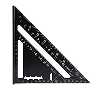 7 Inch Rafter Square Carpenter Square Aluminum Triangle Ruler Measuring Ruler Layout Tool Metric System(Metric)