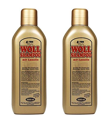 2x WOLL SHAMPOO 2x1L mit LANOLIN gold Waschmittel Wollschampoo Reinigungsmittel Fellreinigung 57