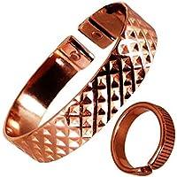 The Online Bazaar Stilvoll gekerbter quadrate-design Kupfer magnetisch Band mit gefüttert Finish magnetisch KUPFER... preisvergleich bei billige-tabletten.eu