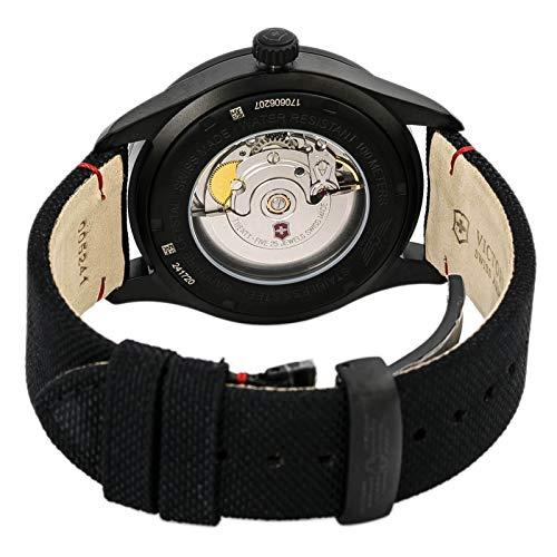 Victorinox Swiss Army - AirBoss Mechanical Black Edition - Reloj de Pulsera analógico automático para Hombre, con Correa de Tela, 241720