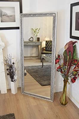 Large Antique Design Full Length Silver Wall Mirror 5ft3 x 2ft5 160cm x 73cm New - inexpensive UK light store.