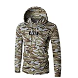 Kapuzen-Sweatshirt, junge Männer Langarm Brief Hoodie Outwear Bluse (XL, Tarnung)