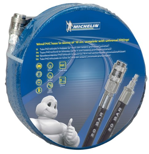 MICHELIN CA-6711310900 - MANGUERA PVC 20 MT  CON ACOPLES UNIVERSALES  Ø 8X12MM  20 BAR