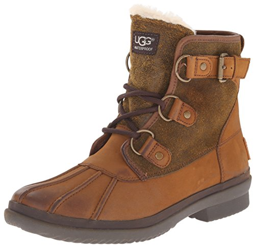 UGG Australia Womens Cecile Chestnut Leather Boots 37 EU