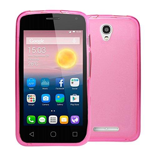 TBOC® Rosa Gel TPU Hülle für Alcatel One Touch Pixi First - Pixi 1st (4.0 Zoll) Ultradünn Flexibel Silikonhülle