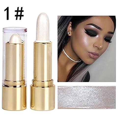Minshao Pro Shimmer Highlight Crème visage yeux Fond de teint correcteur Stylo bâton crayon maquillage Outil 1#
