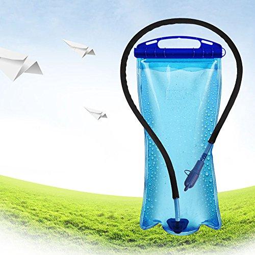 douself 2L PEVA large bouche Hydratation Poche à eau sac pour sport Randonnée Camping Escalade sac à dos portable de vélo Bleu
