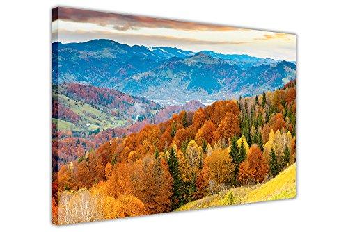 ng über Bäume und Hügel Framed Canvas Wall Art Prints Bilder Dekoration für Zuhause Modern 02- A3 - 16