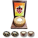 TYYC Home Decorative Candle Holders Diwali Gift Items Aesthetic Lord Ganesha Votive Tea Light Holder Gift Pack Combo Of 5 T-light Holders