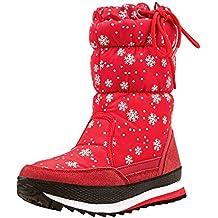 2c6ee45ce5c Shenji Zapatos de Mujer de Invierno - Botas de Nieve Media Pierna  Antideslizante H20612