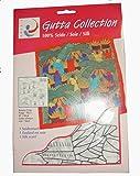 ARTY'S Gutta Collection - Motiv: Banana Crop - Pongé 05, ca. 90x90cm, rollierte Ränder (Gutta schwarz)