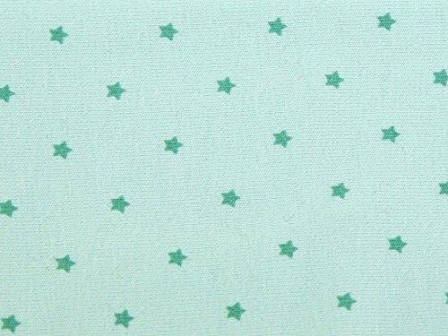 Mini Stars Print Stretch Jersey Knit Kleid Stoff Light Mint-Meterware Mini-print-jersey