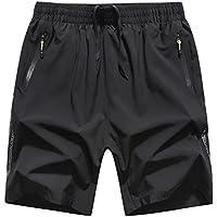Shorts Bermuda pour Homme Pantacourt Sport Jogging Poche Zippée Casual Fitness  Pantalons 43ae39a7801