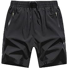 Shorts Bermuda pour Homme Pantacourt Sport Jogging Poche Zippée Casual  Fitness Pantalons f55d6e59f8c
