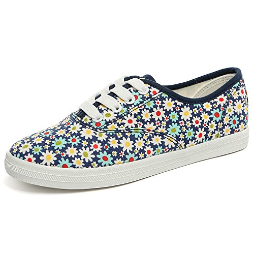 Alexis Leroy - Sneakers Basse con stampa floreale donna Blu scuro