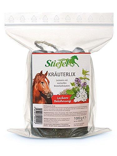 Stiefel Kräuterlix Leckstein 1000g für Pferde | Leckstein Kräuterlix