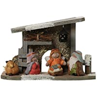 DonRegaloWeb - Set nacimiento de cerámica y madera decorado con varios colores