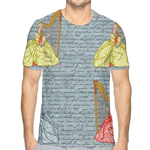 44386fdbc Men s Short Sleeve Dangerous Liaisons ~ Cecile s Harp Lessons ~ Pillow  Sizes T-Shirts tee Tops XL