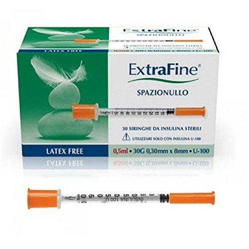 Siringa Insulina Extrafine 0,5ml 100ui G30 30 Siringhe