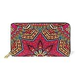183ff9016f COOSUN Estratto di pelle etnica tribale della frizione della borsa  Portafoglio Card Holder Organizer L Multicolore