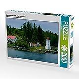 Lighthouse am Fisher Channel 2000 Teile Puzzle quer: Kanadas Inside Passage (CALVENDO Natur)