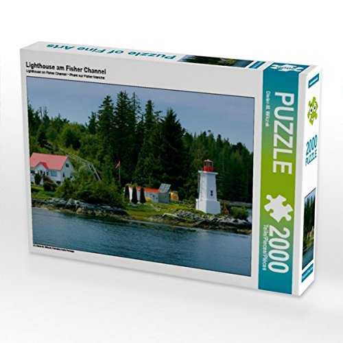 Lighthouse am Fisher Channel 2000 Teile Puzzle quer: Kanadas Inside Passage (CALVENDO - Schiff Nach Kanada