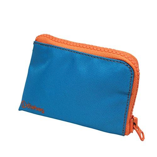 diabag Sunny Diabetes Tasche Klein für Diabetiker Zubehör, (15x1x5 cm) Nylon, Cyan/Orange, 231-5