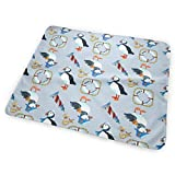 Voxpkrs Puffin Navy Baby Crib Pee Changing Pad Mat Mattress Protector for Toddler Kids Infant Pets