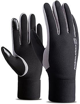 TININNA Unisex Inverno Caldo Outdoor Impermeabile velluto Touch Screen Antivento Guanti da ciclismo Guanti di...