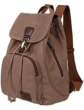 Vintage Canvas Rucksack, Retro Schultasche Daypack Backpack für School Outdoor Sports, Herren Damen Multifunktionale...