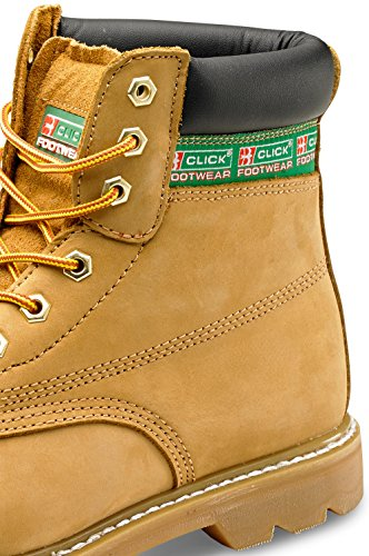 Goodwear guardolo di sicurezza SBP 6 pollici, con intersuola B-Click Footwear Honey Nubuck