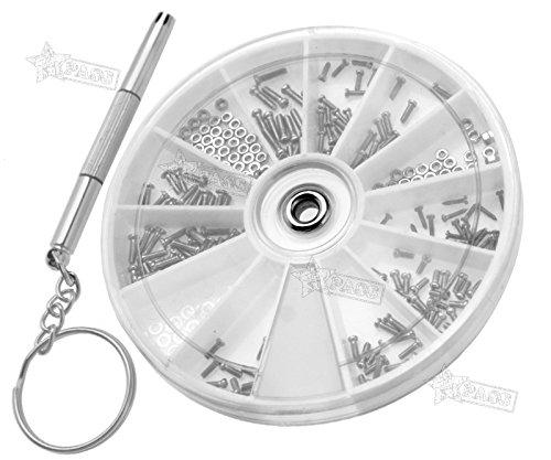 Generic.. AL Glas Gläser Schrauben Tiny Asso Armbanduhr Optische Repair K Repair Kit Schrauben RE 120x Tiny sortiert Treiber Schraubendreher