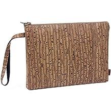SIMARU Elegante Bolso de Mano hecho de moderno corcho / piel de corcho, bolsa porta