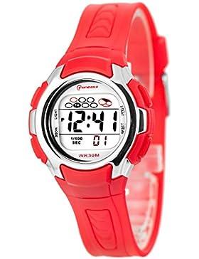 Kleine digitale Mingrui Armbanduhr für Damen und Kinder Alarm Stoppuhr Licht, 0258-MR/5