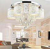 Moderne kreative Rundschreiben led Deckenleuchte Licht Kristall Lampe Schlafzimmer Wohnzimmer Lampe warm Farbwechsel-restaurants , 6 head + crystal