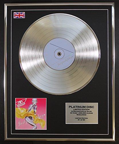 AEROSMITH/Limitierte Edition Platin Schallplatte/JUST PUSH PLAY (Aerosmith Sammlerstücke)