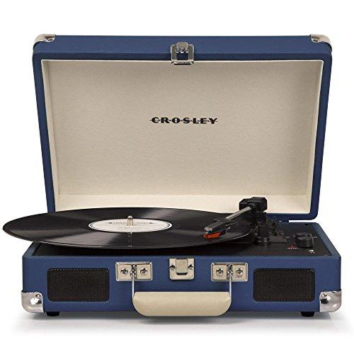 Crosley Plattenspieler, tragbar, Deluxe BT blau