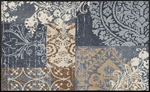 wash+dry Fußmatte, Polyester, Grau, 75 x 120 cm