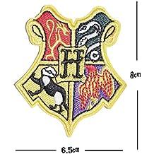 Hogwarts House Stickerei Patch Griffindor Slytherin Ravenclaw Hufflepuff Aufbügeln oder Aufnähen auf bestickt Motiv Transfer Aufnäher