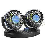 Fansport Ventilateur De Voiture éLectrique Creative Mini 12 / 24V Ventilateur à Double TêTe pour Voiture